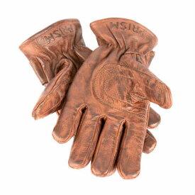 PRISM Gloves Brown プリズム ロデオ グローブ ブラウン レザー 革 手袋 アメリカ アメリカン バイク ハーレー フリース裏地 シンチロープ