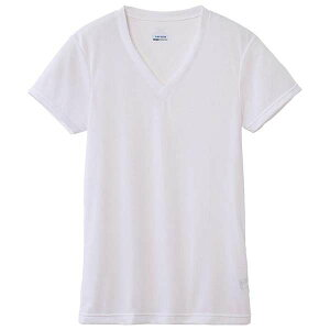 ドライベクターエブリ Vネック半袖シャツ C2JA610102 オフホワイト LLサイズ 1枚 【 ミズノ ドライベクターエブリ 】[ 介護 パジャマ インナー 部屋着 ねまき らくらく 快適 抗菌 着心地 おすすめ