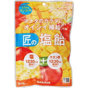 匠の塩飴 マンゴー味 100g ( サラヤ )