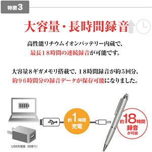 ボールペン型ボイスレコーダーアドバンスADVANCE18時間連続録音8GBメモリ1年保証ペン型高音質長時間録音機ICレコーダー送料無料IC-005