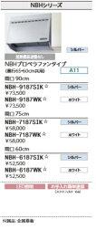 LIXILレンジフードNBHシリーズプロペラファンタイプW900×H700 NBH-9187*カラー選択メーカー便にてお届けいたします北海道・沖縄及び離島は別途送料がかかります