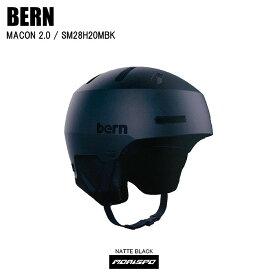 BERN バーン ヘルメット MACON2.0 SNOW メイコン2.0 BE-SM28H20MBK マットブラック ST