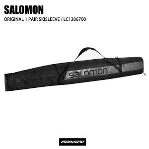 SALOMON サロモン ORIGINAL 1 PAIR SKISLEEVE オリジナル1ペアスキースリーブ LC1206700 BLACK ケース類 スキーケース ST