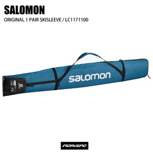 SALOMON サロモン ORIGINAL 1 PAIR SKISLEEVE オリジナル1ペアスキースリーブ LC1171100 MOROCCAN BLUE B ケース類 スキーケース ST