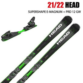 2021 HEAD SUPERSHAPE E-MAGNUM + PRD12 GW スーパーシェイプ イーマグナム 20-21 ヘッド スキー板 金具付 デモ 基礎 オールラウンド ST
