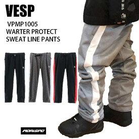 VESP べスプ VPMP1005 WARTER PROTECT SWEAT LINE PANTS 20-21 ボード パンツ スエット ユニセックス スノボ ウエア ST