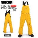 VOLCOM ボルコム ウェア BARKLEY OVERALL RSG 20-21 スノーボード ボード ジュニア ユース 子供用 パンツ ビブ ビブパ…