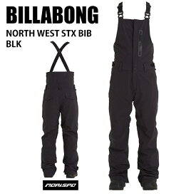 BILLABONG ビラボン ウェア BA01M-700 NORTH WEST STX BIB 20-21 BLK スノーボード スキー ボード シンパテックス Sympatex メンズ ビブ パンツ ST