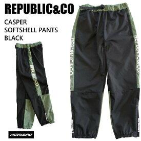 REPUBLIC&CO リパブリック ウェア CASPER SOFTSHELL PANT 20-21 BLACK スノーボード ライトウエア メンズ レディース 防水 パンツ ST