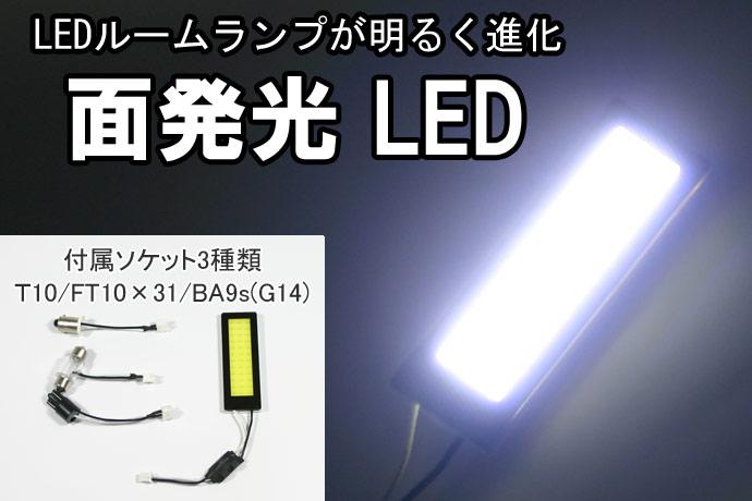 LEDルームランプ 明るい面発光(60×20mm)厚み5mm(両面テープ含む)ルーム球