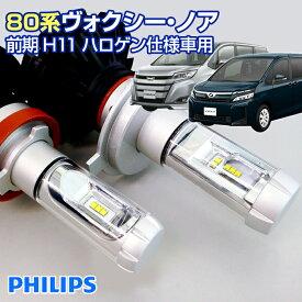 (返金保証) 80 ヴォクシー ノア 前期用 NOAH VOXY(80系) LEDヘッドライト H11(ハロゲン仕様車用)
