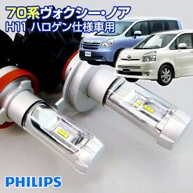 (返金保証) 70 ヴォクシー ノア NOAH VOXY (70系) LEDヘッドライト H11(ハロゲン仕様車用)