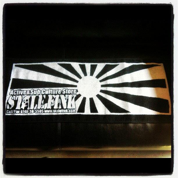 【StaleFink】ステイルフィンク【Rising Sun Towel】BLK/WHT 防染タオル【フェイスタオル】約34×95cm