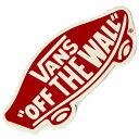 【VANS】バンズ【Logo Sticker Red】高さ5.2cm x 横幅11.5cm【ダイカット】ステッカー【ネコポス対応可】