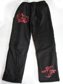 【SECURITY CLOTHING】セキュリティー【SPUER HEAVY OZ DICE SWEAT PANTS】BLK/RED【スーパー ヘビーオンス】スウェットパンツ【車泊】極寒【StaleFink オリジナル】