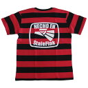 【StaleFink】ステイルフィンク【HECHO EN STALEFINK BORDER S/S TEE】Black/Red【Tシャツ】T-shirts【ティーシャツ】ボーダー【5.0oz…