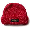 【Softmachine】ソフトマシーン【DAILY KNIT CAP】Red【ニット帽】帽子【ビーニー】ソフトマシン【ネコポス対応可】