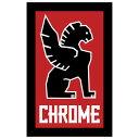 【CHROME】クローム【Logo Sticker】Small 高さ7.1cm 幅4.6cm【ステッカー】ネコポス対応
