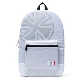 【Independent x Herschel】インディペンデント x ハーシェル【PACKABLE DAYPACK】White【SKATEBOARD】スケボー【スケート】鞄【バックパック】パッカブル 【携帯】折りたたみ【旅行】トラベル