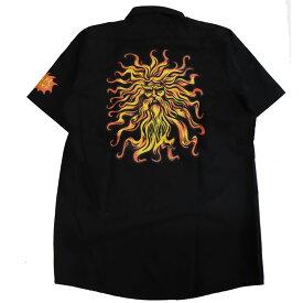 【Santa Cruz】サンタクルーズ【Son God S/S Work Shirts】Black Msize【ワークシャツ】半袖シャツ【REDKAP】レッドキャップ【ネコポス対応可】