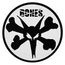 【BONES WHEEL】ボーンズ【Rat Sticker White】直径10.2cm【SKATEBOARD】スケボー【スケート】ステッカー【ネコポス対応可】