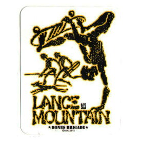 【POWELL PERALTA】パウエル ペラルタ【Lance Mountain Sticker Yellow】H 11.5cm x W 8.9cm【SKATEBOARD】スケボー【ステッカー】BONES BRIGADE【ネコポス対応可】