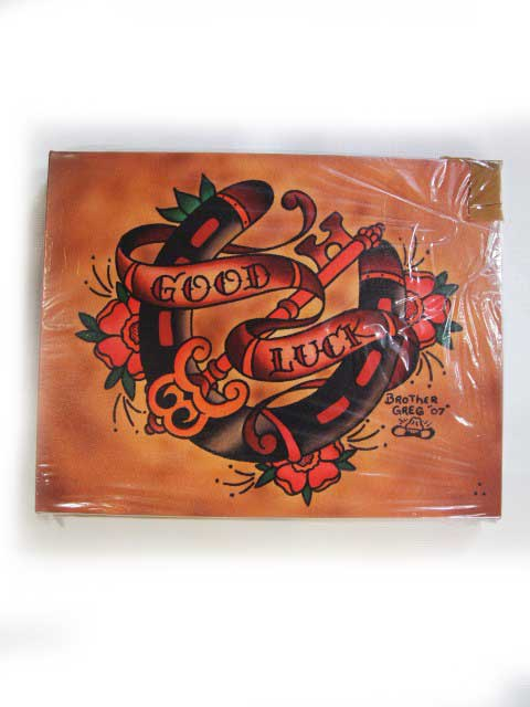 【BLACK MARKET ART COMPANY】ブラックマーケットアートカンパニー【Good Luck】Art by Brother Greg【キャンバスアート】アートボード