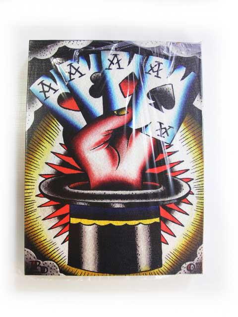 【BLACK MARKET ART COMPANY】ブラックマーケットアートカンパニー【Aces High】Art by Ryan Downie【キャンバスアート】アートボード