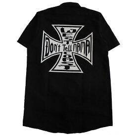 【Don'r Tell Mama】ドントテルママ【Iron Cross S/S Work Shirts】Black/White【ワークシャツ】半袖シャツ【REDKAP】レッドキャップ【StaleFink】ステイルフィンク【ネコポス対応可】