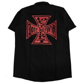 【Don'r Tell Mama】ドントテルママ【Iron Cross S/S Work Shirts】Black/Red【ワークシャツ】半袖シャツ【REDKAP】レッドキャップ【StaleFink】ステイルフィンク【ネコポス対応可】