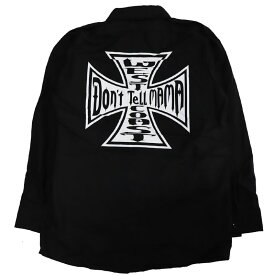 【Don'r Tell Mama】ドントテルママ【Iron Cross L/S Work Shirts】Black/White【ワークシャツ】長袖シャツ【REDKAP】レッドキャップ【StaleFink】ステイルフィンク【ネコポス対応可】