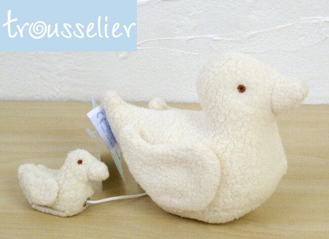 ベビーおもちゃ(トラセリア)アヒルオルゴール ギフトやプレゼントに最適☆フランス生まれのキュートなオルゴール♪ ぬいぐるみ