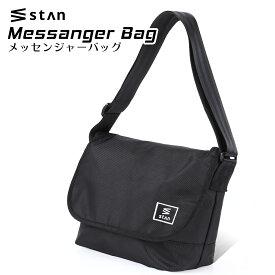 【SALE価格4980円→2980円】stan ショルダーバッグ メンズ レディース [ 収納 整理力 抜群の メッセンジャーバッグ ] バッグ の裏と中にポケット有り チャック付 大容量