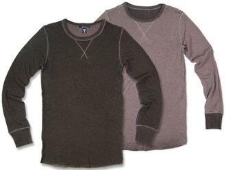 alternative apparel Reversible 7/8 V-Notch Crew浓缩咖啡/dato[两者择一服饰可逆长袖子圆领T恤]