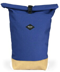 BRAASI INDUSTRY[ブラアシィ・インダストリー]ROLLTOP BLUE CANVAS / LEATHER 16Lチェコ製コットンキャンバス×チェコ製 ぬめ革ボトム[ロールトップキャンバス バックパック ハンドメイドインプラハ]