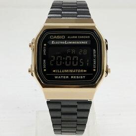 "CASIO ""STANDARD""A168WEGB-1BJF ゴールド/ブラック/反転液晶 [カシオ スタンダード チプカシ デジタル 販売店限定、元海外版から国内正規品になったモデルです ]"