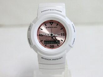 卡西欧 g 冲击迷你模拟模型卡西欧 g 冲击迷你 GMN-500-7B2JR 白色 / 粉红色