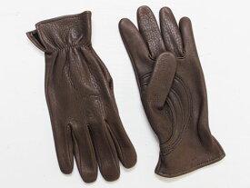 J. Churchill Glove Co. DEERSKIN With Patch Palm ブラウン [ジェームスチャーチル ディアスキン レザーグローブ 鹿革手袋]