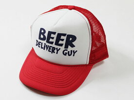 T-LINE USABEER DELIVERY GUY CAP レッド [ビアデリバリーガイ メッシュキャップ ビール係帽子] 【SBZcou1208】 【mens_0803w】
