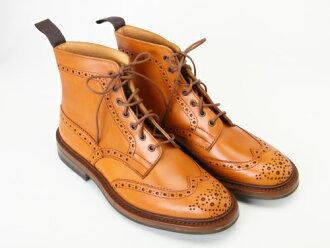 """Tricker's M2508 """"MALTON"""" Calf Brogue Boots鳐鱼康古董(ダイナイトソール)[トリッカーズモルトンカーフレザーメダリオンウイングチップカントリーブーツAcorn Antique]]"""