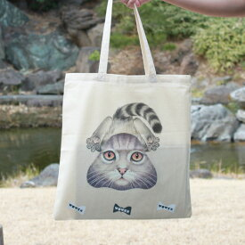 """WOWCH NY""""SPLAT*CAT TOTE"""" プリントトートバッグ [ウォウチ プリントトート エコバッグ ]"""