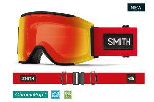 20-21 SMITH スミス ノースフェイスコラボモデル Squad MAG スカッド マグフレーム:TNF Red X Smith ゴーグル アジアンフィット レンズ:Photochromic Red Mirror 調光& CP Clear スキー スノーボード*