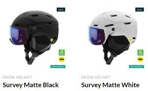 21-22 予約商品 SMITH スミス Survey サーベイ スミスからバイザーヘルメットが新登場 調光レンズスキー スノーボード