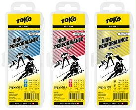 19-20 TOKO トコ ハイパフォーマンス High Performance HF 120g フッ素高配合 ハイフッ素ワックススキー スノーボード メンテナンス*