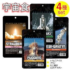 宇宙食Aセット(ストロベリーアイス、プリン、たこ焼き、えびグラタン),SPACE FOODS