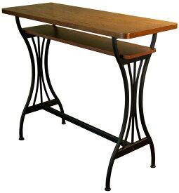 カウンターテーブル バーテーブル 幅110cmタイプ バーカウンター アンティークデザイン ブルックリンスタイル ミッドセンチュリー スペインバル 人気 送料無料