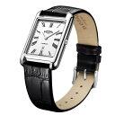 ROTARY GS05280/01 ロータリー ウォッチ 腕時計 時計 レザーベルト メンズ シルバー 角 スクエア 薄型
