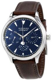 Movado 3650009 モバード ムーンフェイズ 腕時計 ウォッチ レザーベルト 男女兼用 ネイビー 月【送料無料】【代引手数料無料】