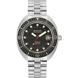 BULOVA 96B344 ブローバ Oceanographer ダイバー オートマ デビル 自動巻 メンズ ウォッチ 時計【ベルト調整無料】