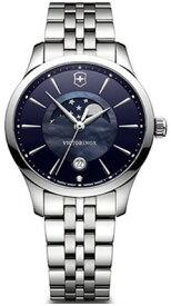【ベルト調整無料】VICTORINOX SWISS ARMY 241752 ビクトリノックス ムーンフェイズ 月齢 レディース ブルー シェル ウォッチ 腕時計 時計 【送料無料】【代引手数料無料】